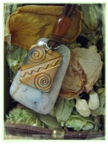 DoubleSpiral Copper & Stone